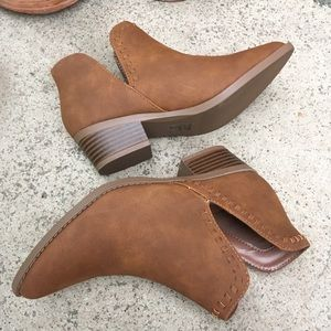 Tan Cut-Out Booties